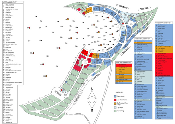 2014 Art & Theme Camp Placement Map